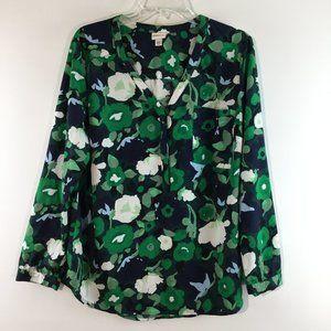 Merona floral print long sleeves top Size XXL
